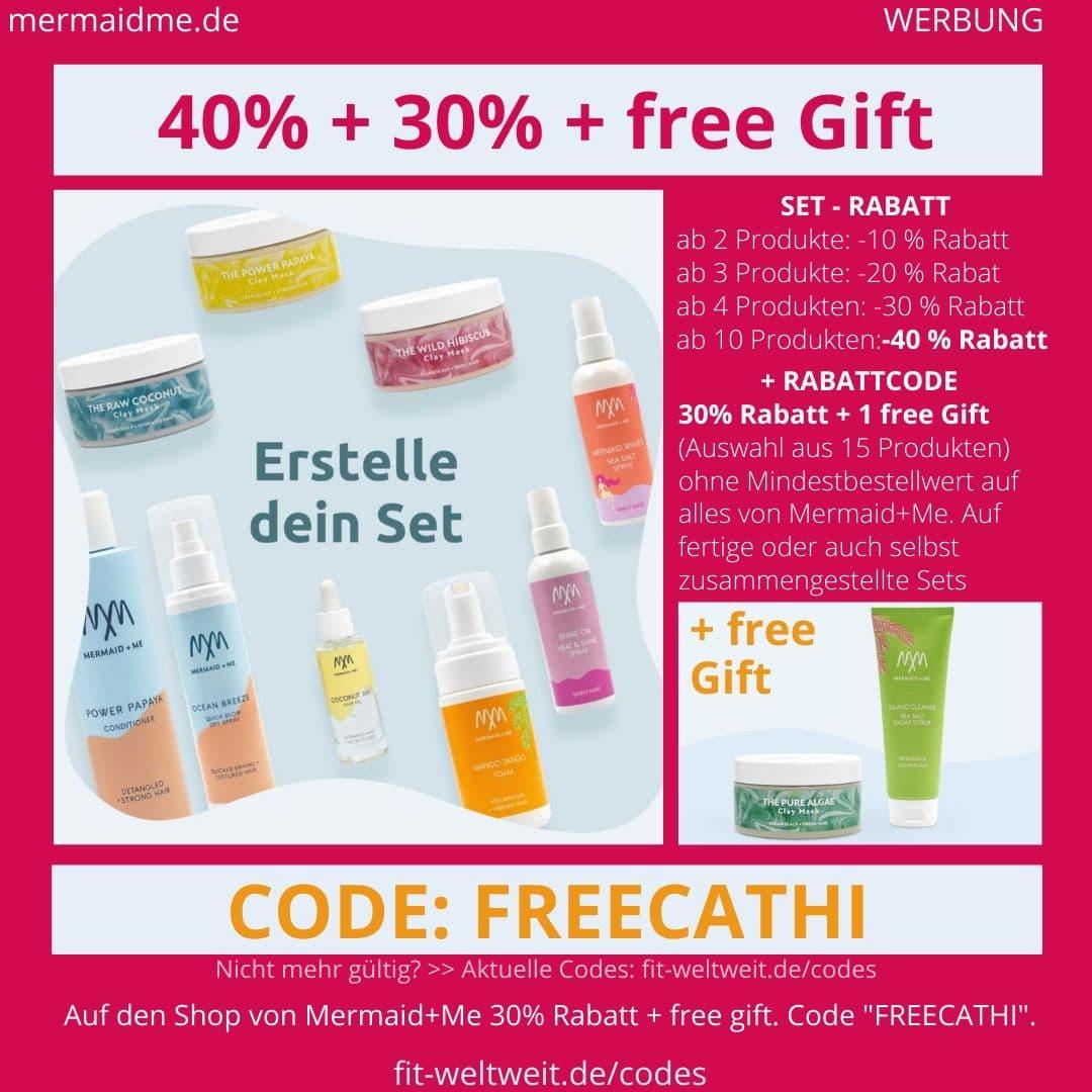 Mermaid+Me Code 70% mindetsens 60% Rabatt 40% + 30% Rabatt + free Gift