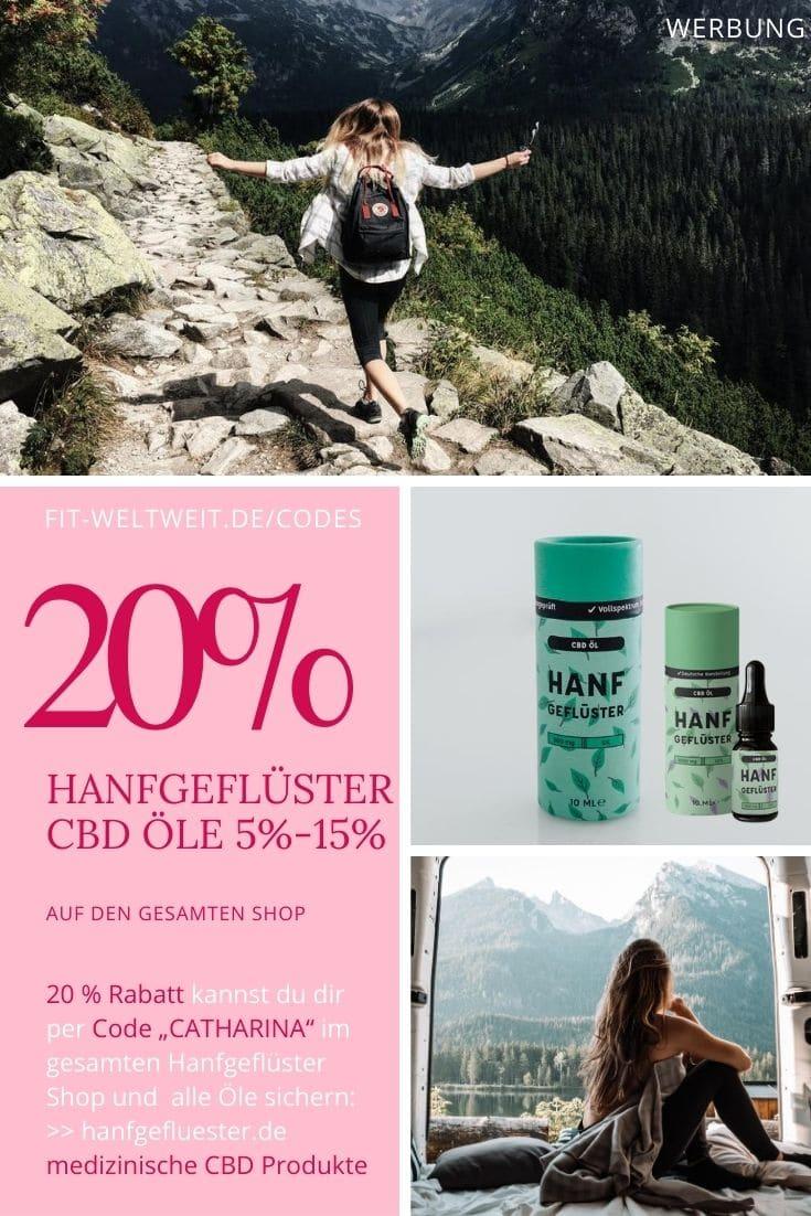 Hanfgeflüster Code 20% Gutschein für CBD Öle und CBD Produkte bis 40% Rabatt