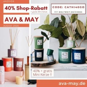 AVA AND MAY DUFTKERZEN RABATT GUTSCHEIN CODE september 2020