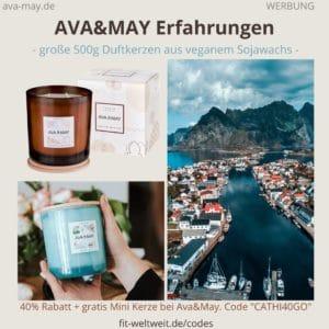 AVA&MAY Erfahrungen Duftkerzen Kerze Bewertung