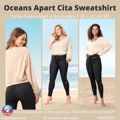 Beige Sweatshirt Erfahrungen Cita by Oceans Apart Größen S M L XL XXL Cita Maas