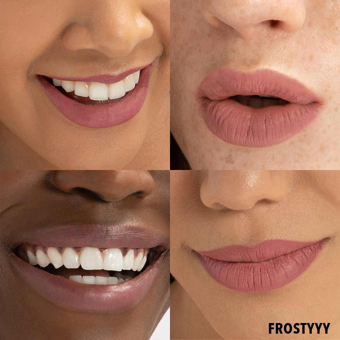 FROSTYYY Lip Butter Anwenung Erfahrung Farben Lipstick