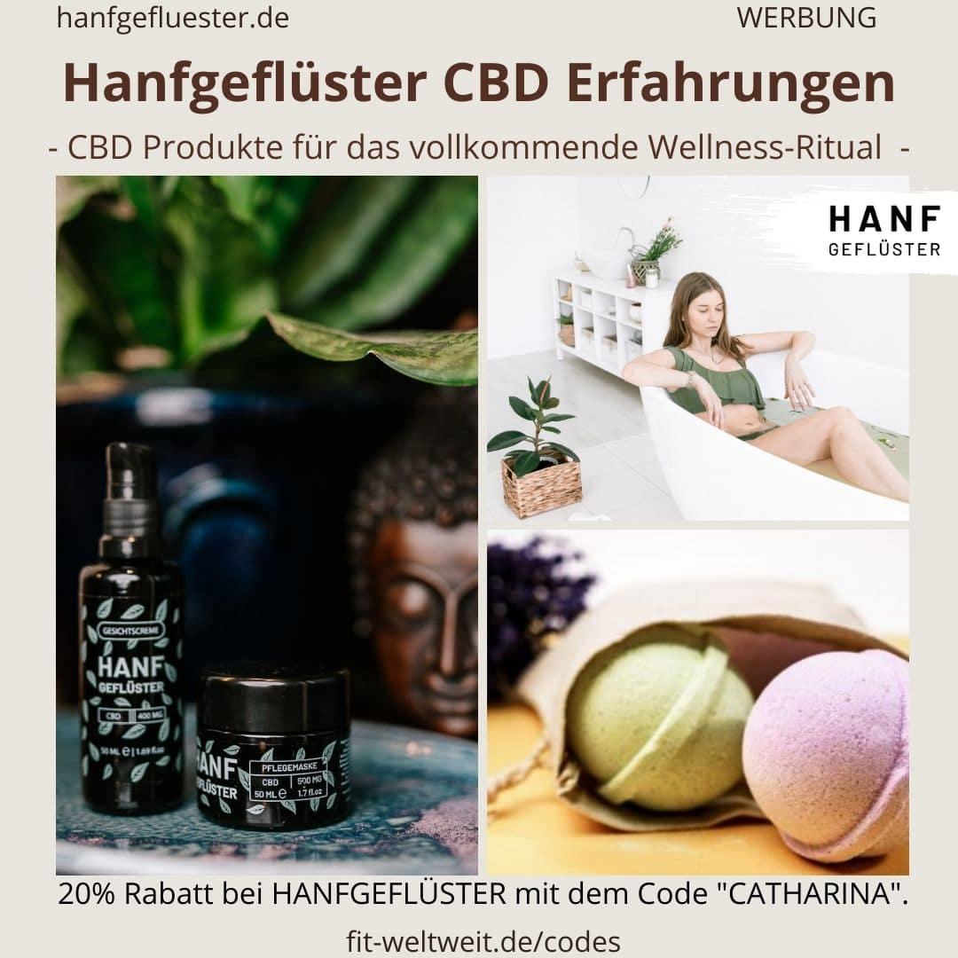 Hanfgeflüster CBD Produkte Wellness Erfahrungen Bewertung Anwendung