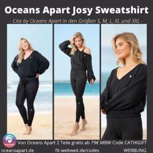 Josy Sweatshirt Erfahrungen Cita by Oceans Apart Größen S M L XL XXL Cita Maas