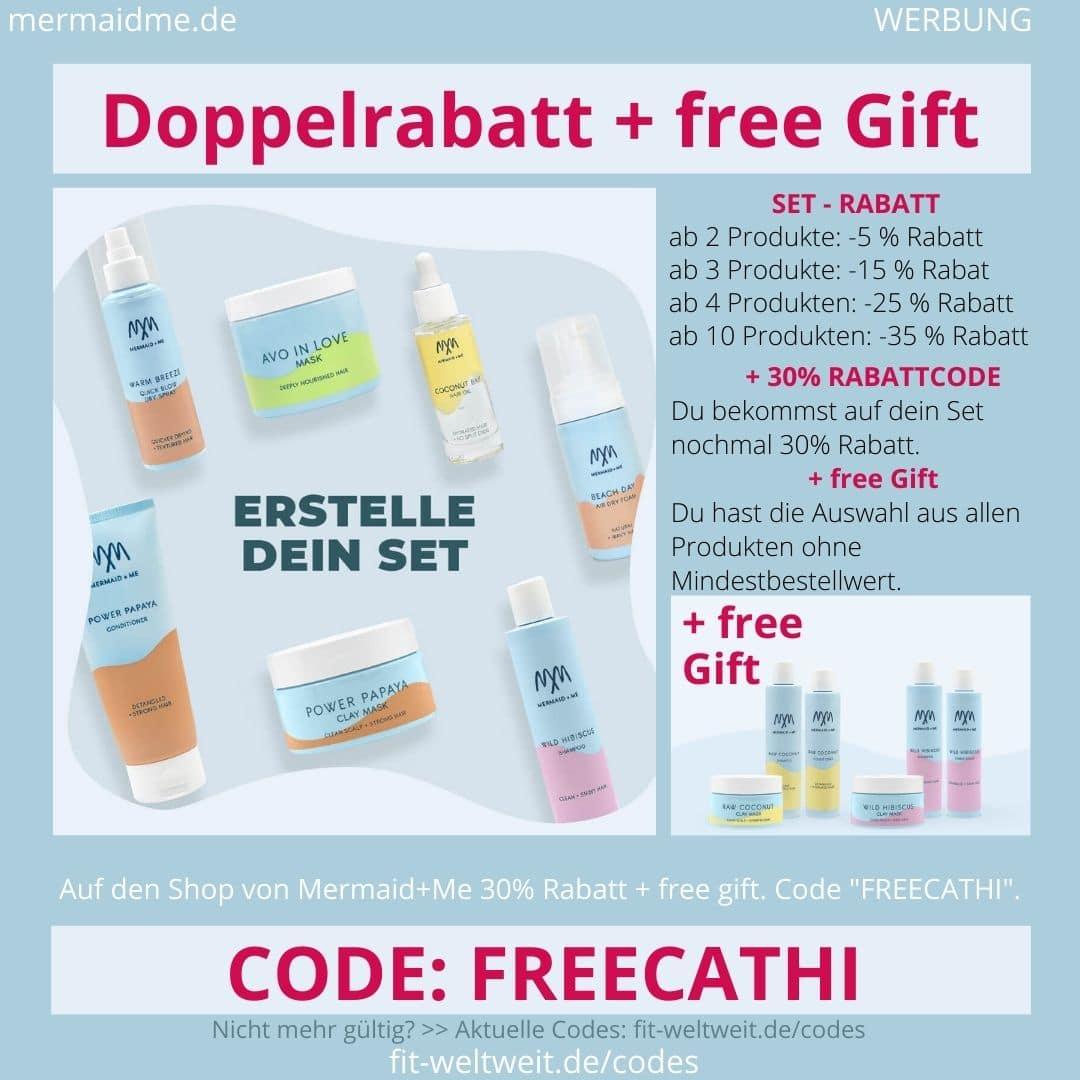 Mermaid and Me Gutschein Code Doppelrabatt + free Gift Geschenk