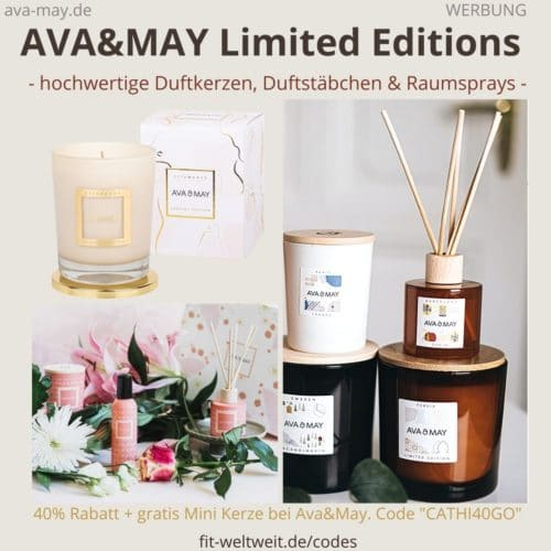 AVA and MAY Limited Editions Duftkerzen Duftstäbchen Raumsprays Sale Ava & May