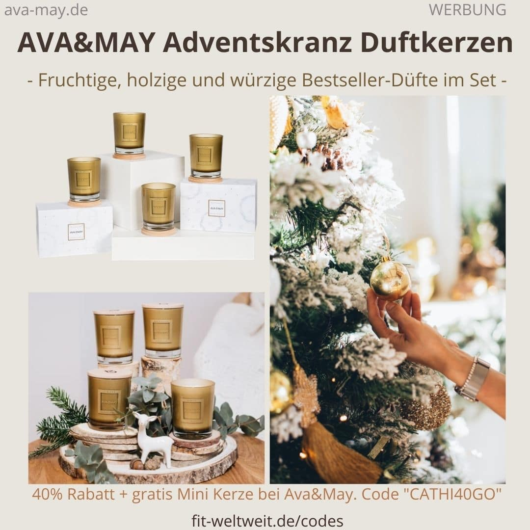 AVA&MAY Bestseller Duftkerzen Erfahrungen Bewertung Adventskranz Set limited Edition