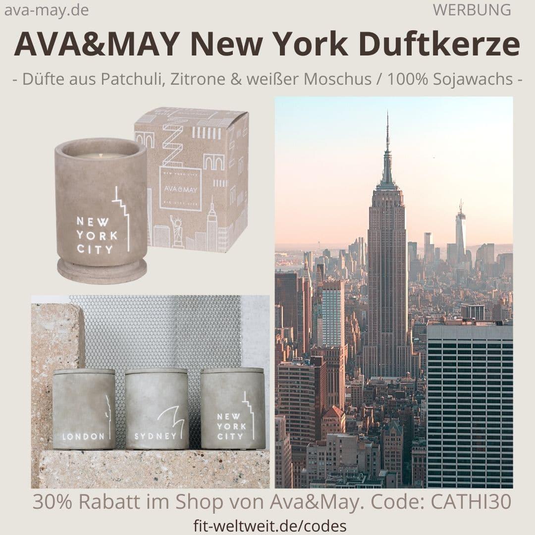 BETON Duftkerzen NEW YORK Ava and May Erfahrung Bewertung