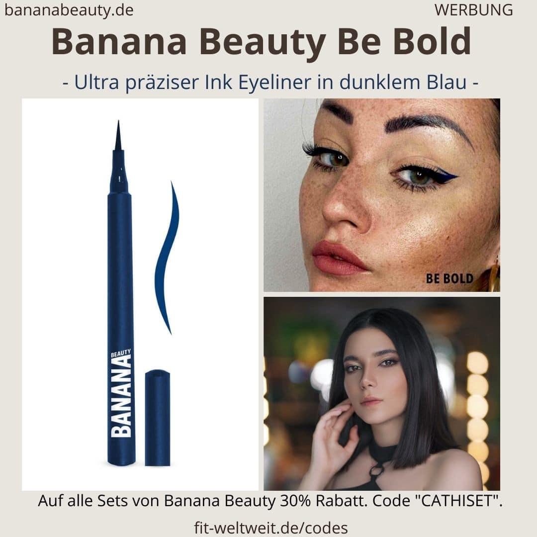 Banana Beauty Be bold Erfahrung dunkel blauer Eyeliner-Stift mit ultra präziser Spitze