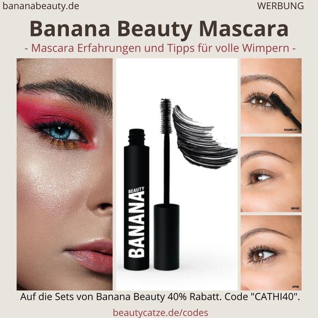 """Banana Beauty Mascara Erfahrungen: Banana Beauty Mascaras im Test. Meine Erfahrungen mit den Wimperntuschen (Werbung) 40% Rabatt auf alle Banana Beauty Sets mit dem Code """"CATHI40"""".In meinem Erfahrungsbericht gehe ich wieder einmal ausführlich auf meine Erfahrungen mit den Wimperntuschen von Banana Beauty ein."""