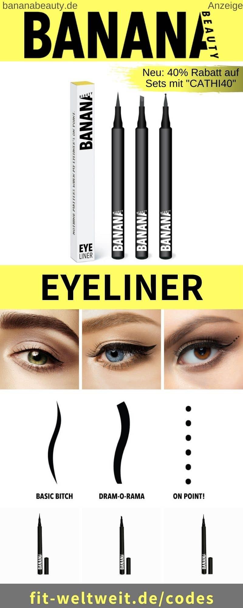 Banana Beauty Eyeliner Erfahrungen Basic Bitch, Drama O Rama, On Point!