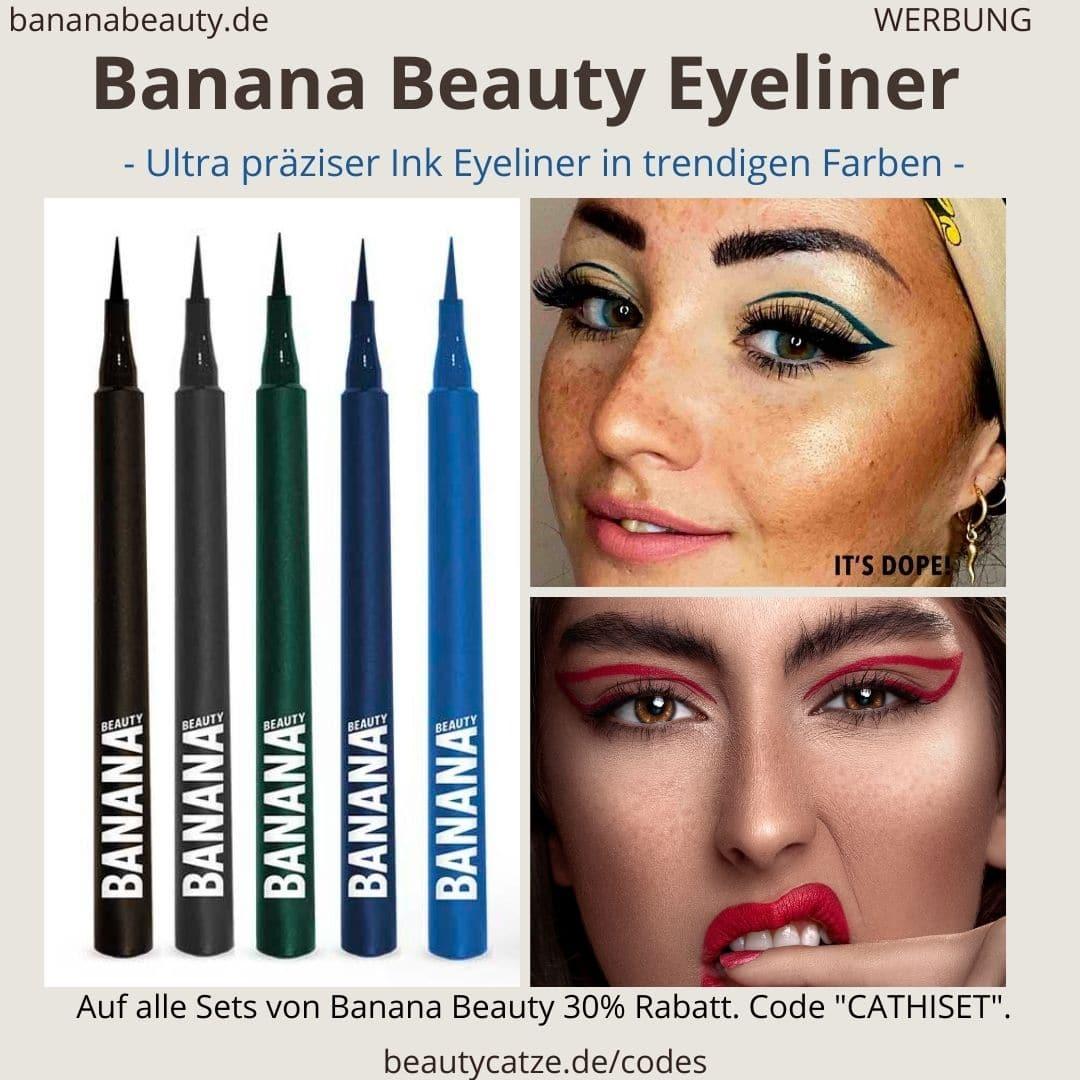 Eyeliner Banana Beauty schwarz blau grün Erfahrungen Unterschiede