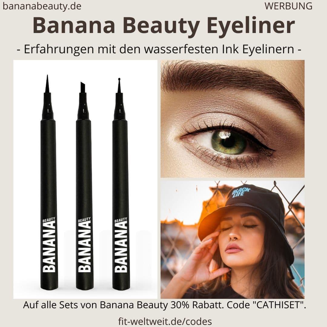 Ink Liner Banana Beauty Erfahrungen Eyeliner schwarz farbig Unterschiede