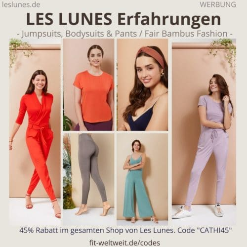 LES LUNES Erfahrungen Bewertung fair Bambus Fashion Test, Jumpsuits, Bodysuits, Pants