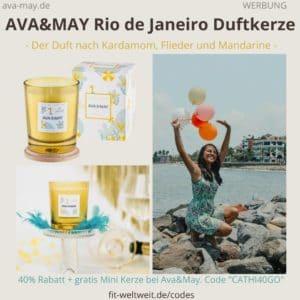RIO DE JANEIRO Brazil AVA and MAY Erfahrung klassische Duftkerze 180g Ava&May