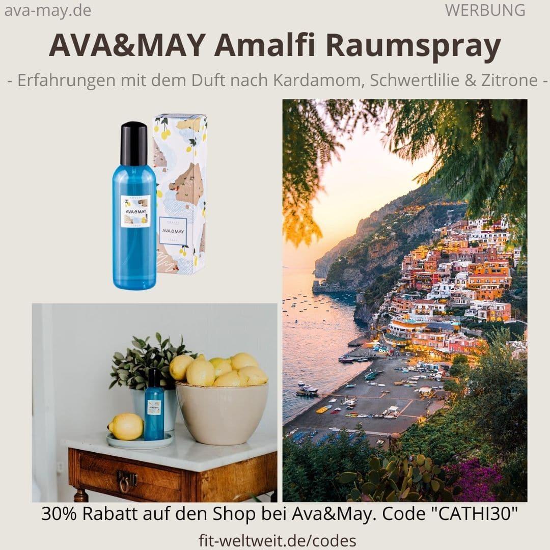 Raumspray Amalfi Italy Erfahrungen Ava and May Ava&May Bewertung Duftnoten