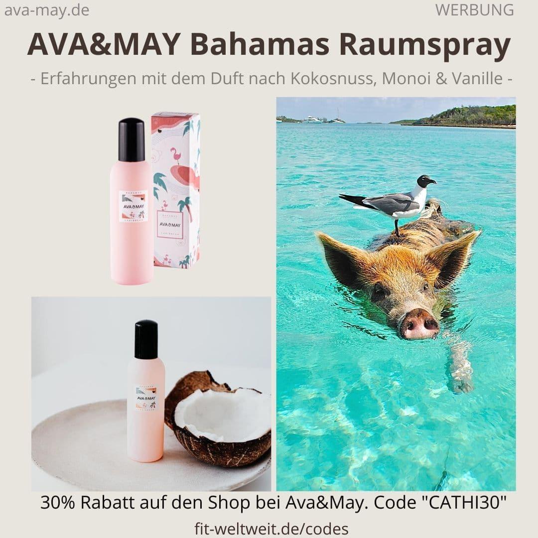 Raumspray Bahamas Carribean Erfahrungen Ava and May Ava&May Bewertung Duftnoten