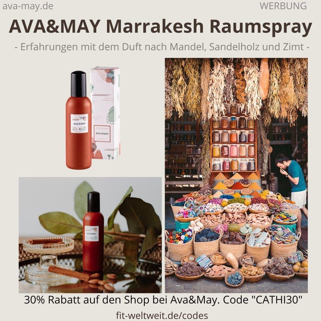 Raumspray Marrakesh Morroco Erfahrungen Ava and May Ava&May Bewertung Duftnoten