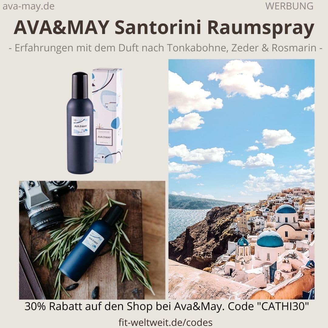 Raumspray Santorini Greece Erfahrungen Ava and May Ava&May Bewertung Duftnoten