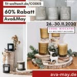 60% Rabatt Ava and May Gutschein Code Black Week