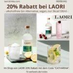 LAORI Code 20% Rabatt Gutschein alkoholfreie Gin Alternative Juniper No 1