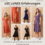 LES LUNES Erfahrungen Bewertung The AVA Dress Kleid Größe Styling