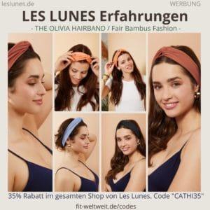 LES LUNES Erfahrungen Bewertung The Olivia Hairband Stirnband