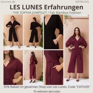 LES LUNES Erfahrungen Bewertung The Sophia Jumpsuit Einteiler
