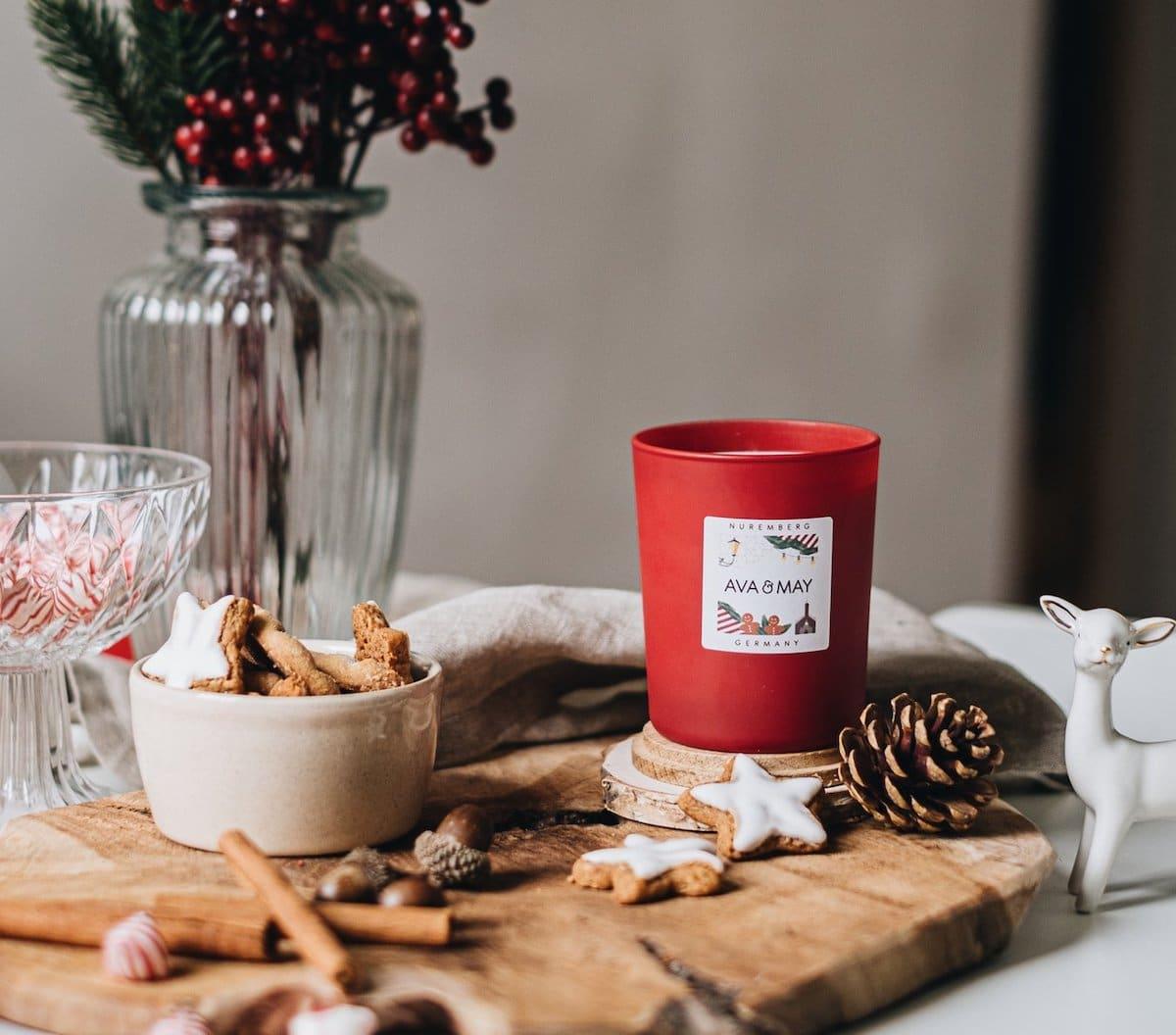 NÜRNBERG Ava and May Duftkerze Erfahrungen Weihnachten Duft Ingwer Nelke Zimt Kerze Bewerttung Germany