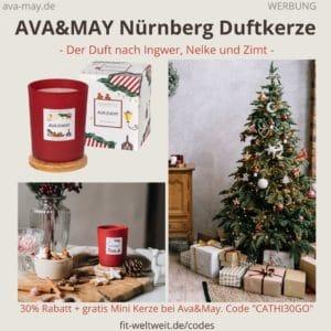 NÜRNBERG Ava and May Duftkerze Erfahrungen Weihnachten Kerze Bewertung Duft Ingwer Nelke Zimt Germany