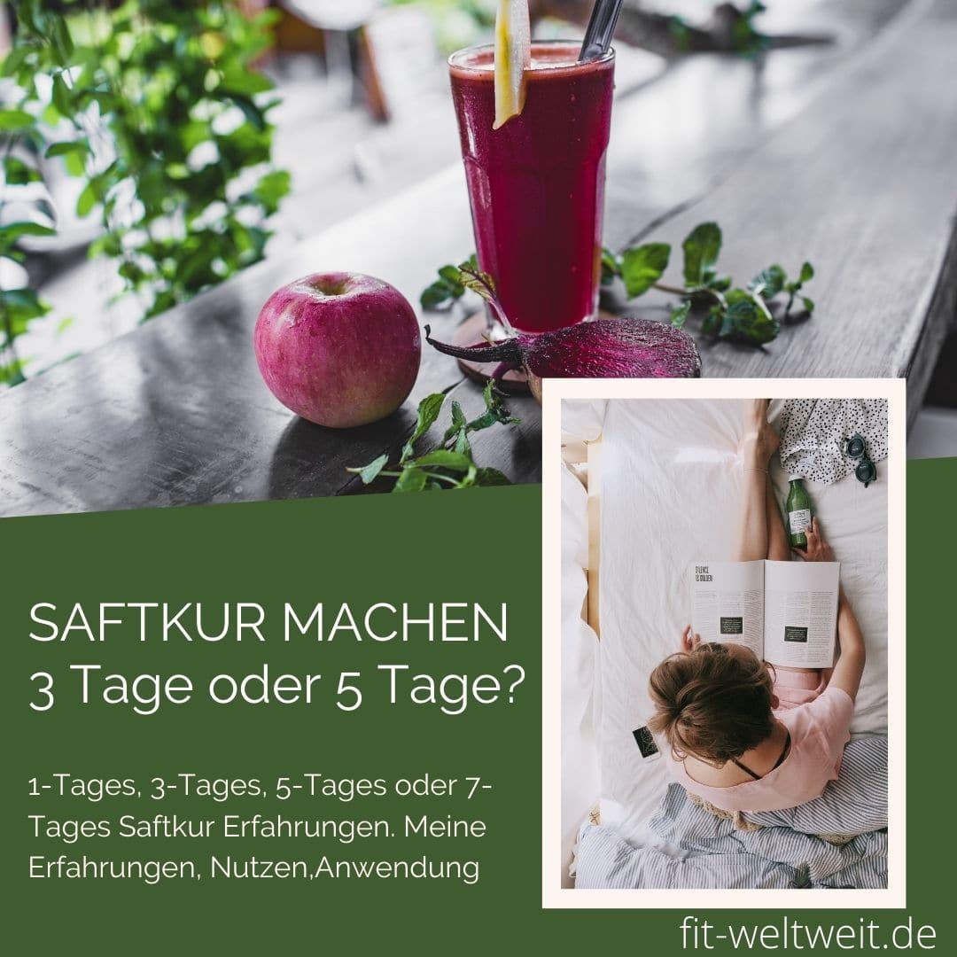 SAFTKUR MACHEN 3 Tage oder 5 Tage Gutschein Code gratis Säfte Shots