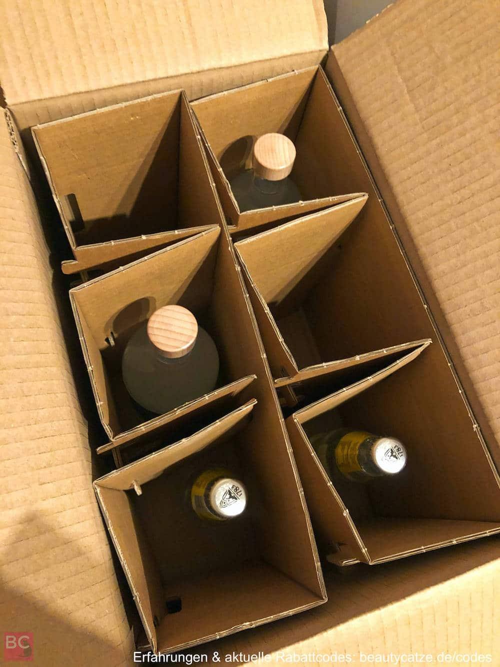 Versand Verpackung LAORI JUNIPER Erfahrungen 500ml alkoholfrei