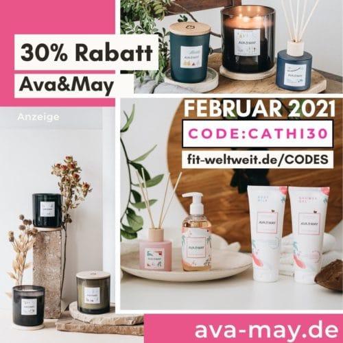 AVA and May Gutschein Code Februar 2021 30% Rabatt