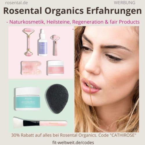 ROSENTAL ORGANICS ERFAHRUNGEN Rosenquarz Roller Steine Serum Rabatt Code
