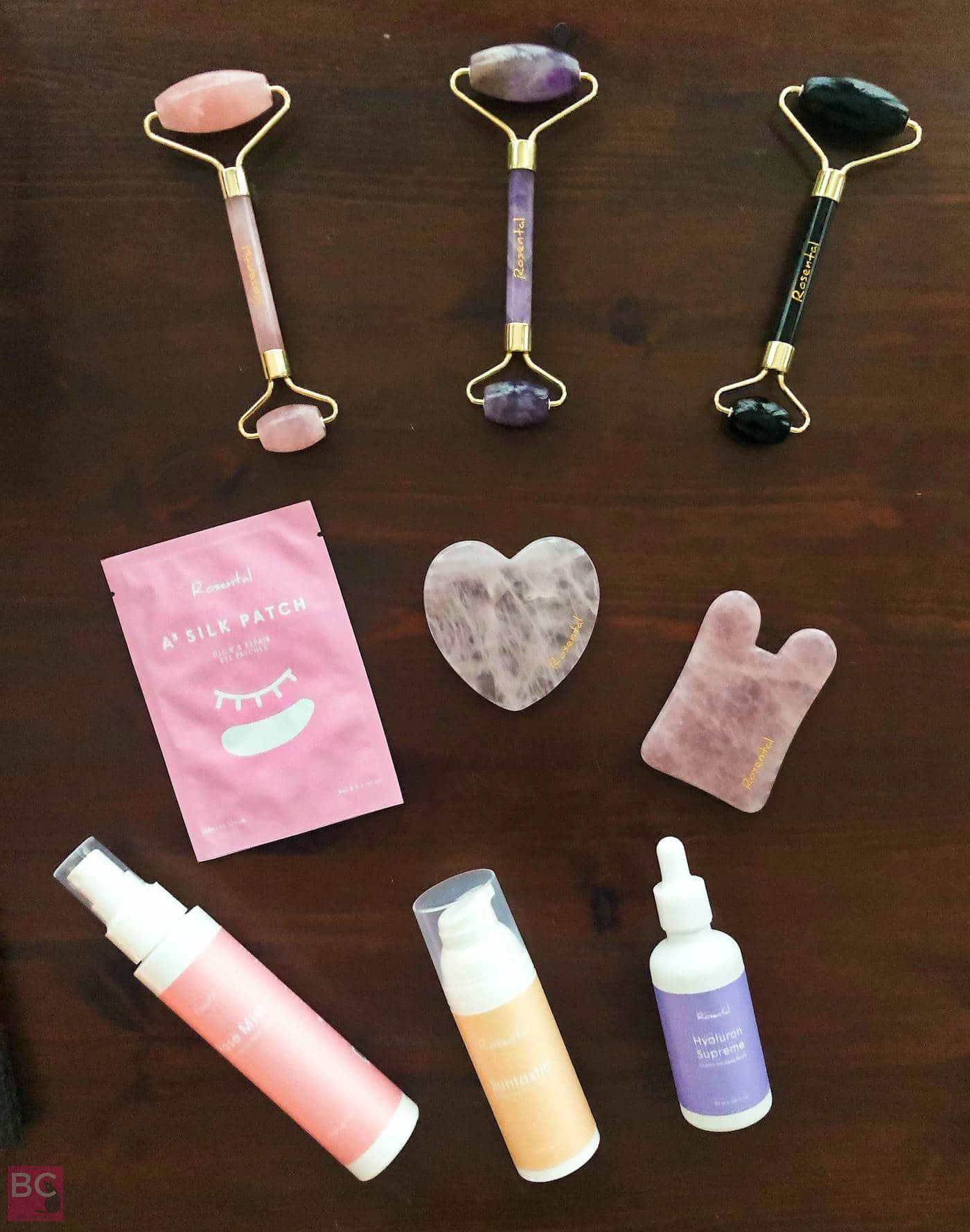 Rosental Organics Beauty Roller Erfahrungen Massagestein Sprays Serum Maske