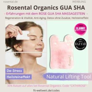 Rosental Organics Rosenquarz ROSE GUA SHA Erfahrungen Massage Stein Heilstein