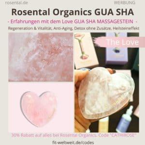 Rosental Organics Rosenquarz THE LOVE GUA SHA Erfahrungen Massage Stein Heilstein