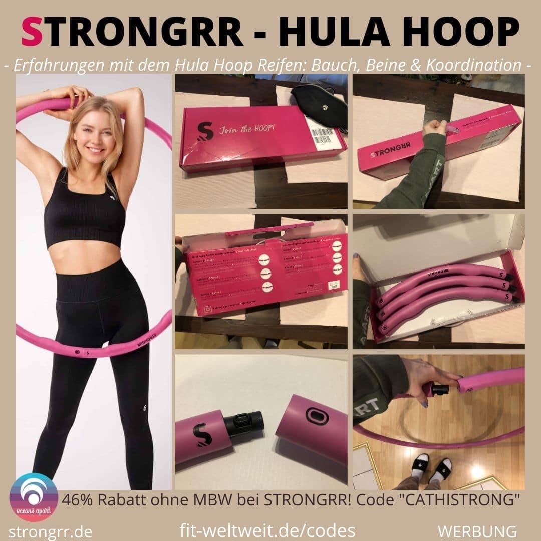 STRONGRR Erfahrungen HULA HOOP REIFEN Bauch trainieren Beine festigen Koordination verbessern