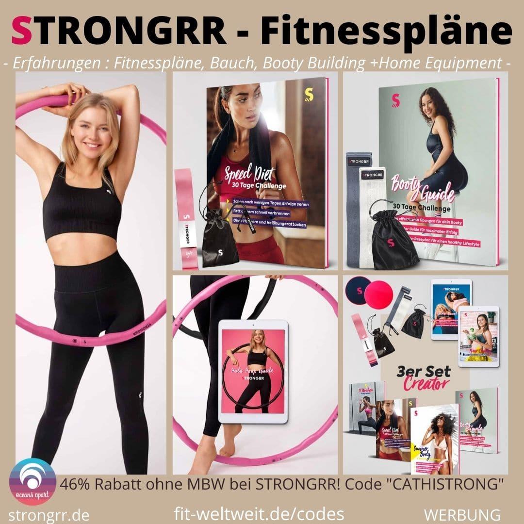 STRONGRR Fitnesspläne Hula Hoop Bauch Booty Bänder Erfahrungen Bewertung