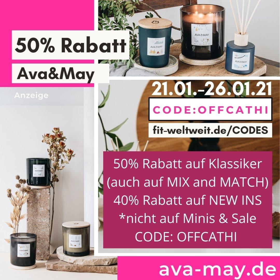 50% Rabatt bei AVA and MAY Flashsale