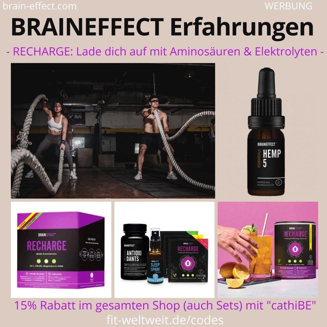 BRAINEFFECT Erfahrungen Recharge Regeneration Produkte Aminosäuren Elektrolyte Drink