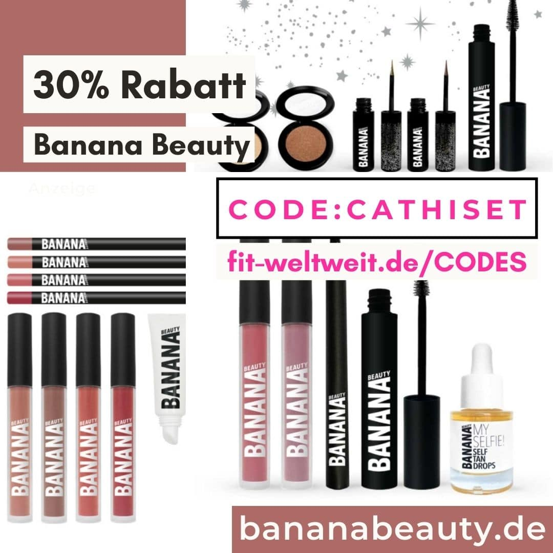 Banana Beauty Code 2021 30% Gutschein Rabatt auf Sets Bundles Shop Liquid Lipsticks