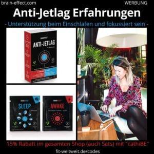 Braineffect Anti Jetlag Drink Erfahrungen Anwendung Biohacking Wirkung