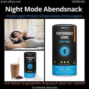 Braineffect Biohacking Night Mood Performance Protein Shake Erfahrungen Anwendung