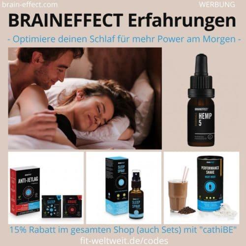Braineffect Erfahrungen Sleep Melatonin Spray Kapseln Shake