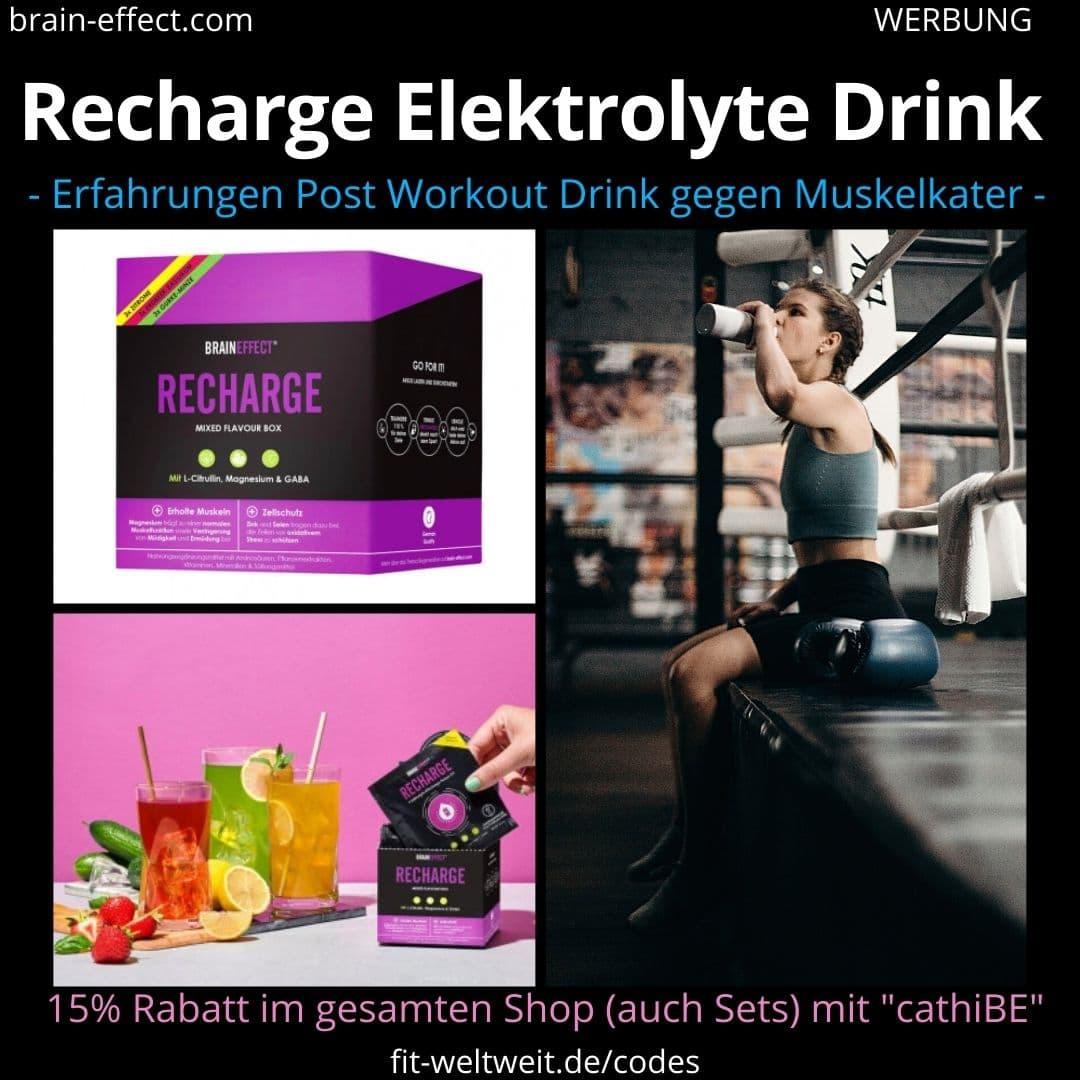 Braineffect Recharge Aminosäure Drink Erfahrungen Anwendung Biohacking Muskelkater
