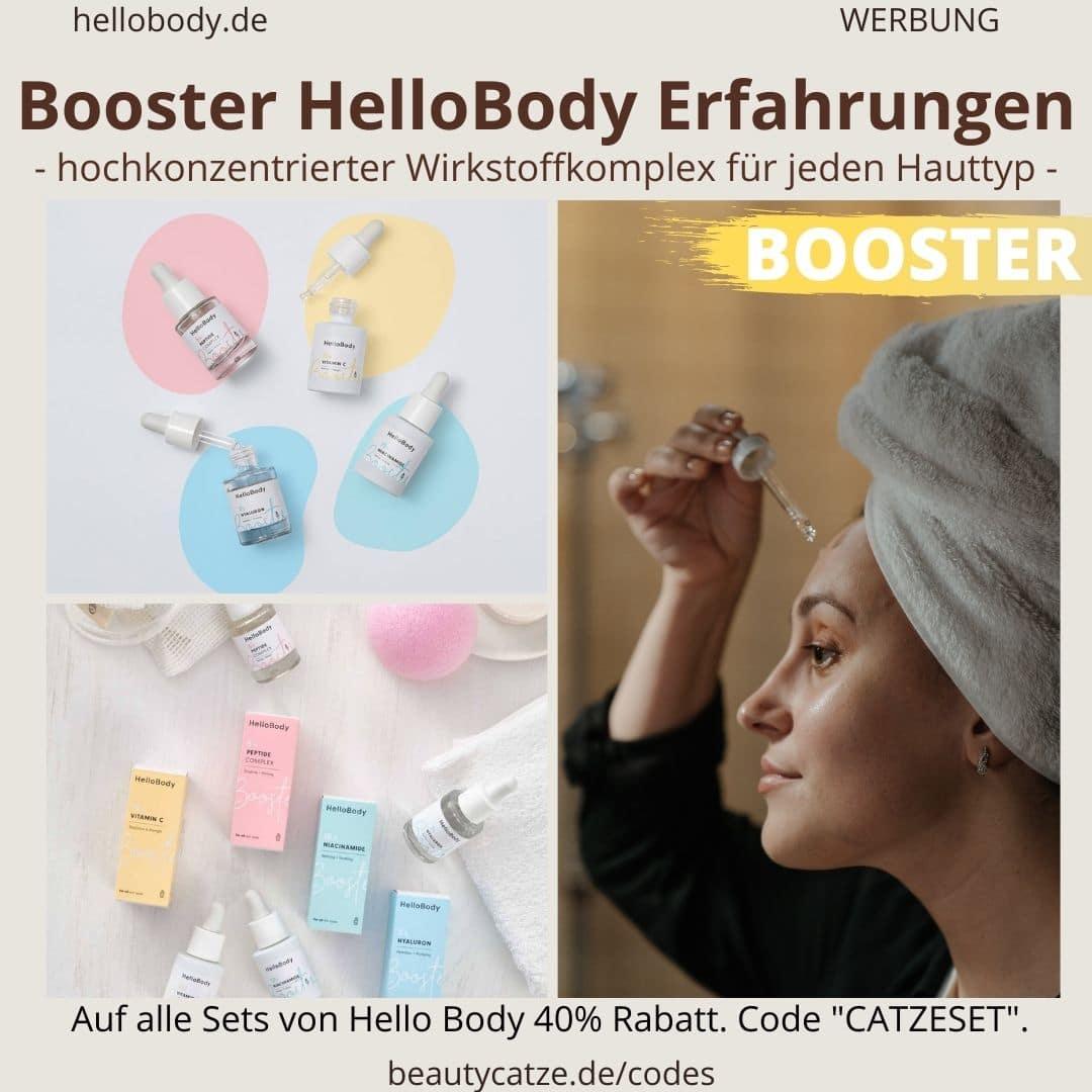 Erfahrungen Booster Hello Body hochkonzentriert Wirkstoffkomplex Wirkung Bewertungen