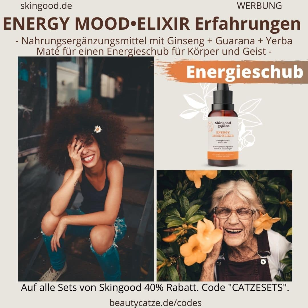 Erfahrungen Skingood Garden Erfahrungen ENERGY MOOD ELIXIR Serum Tropfen Test Nahrungsergänzungsmittel
