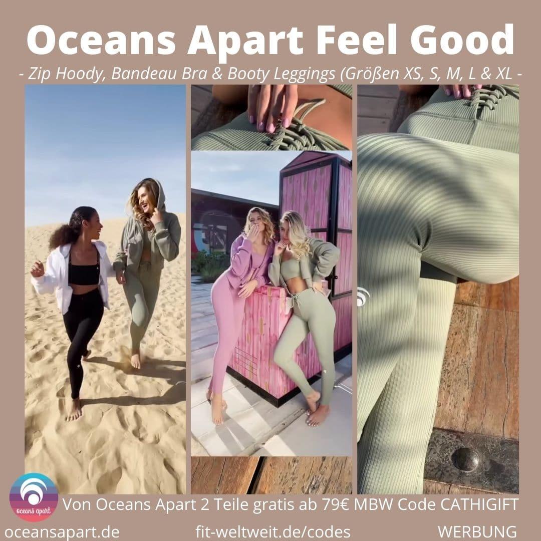 Feel Good Collection by OCEANS APART Zip Hoodies, Bandeau Bra Booty Schnür-Leggings