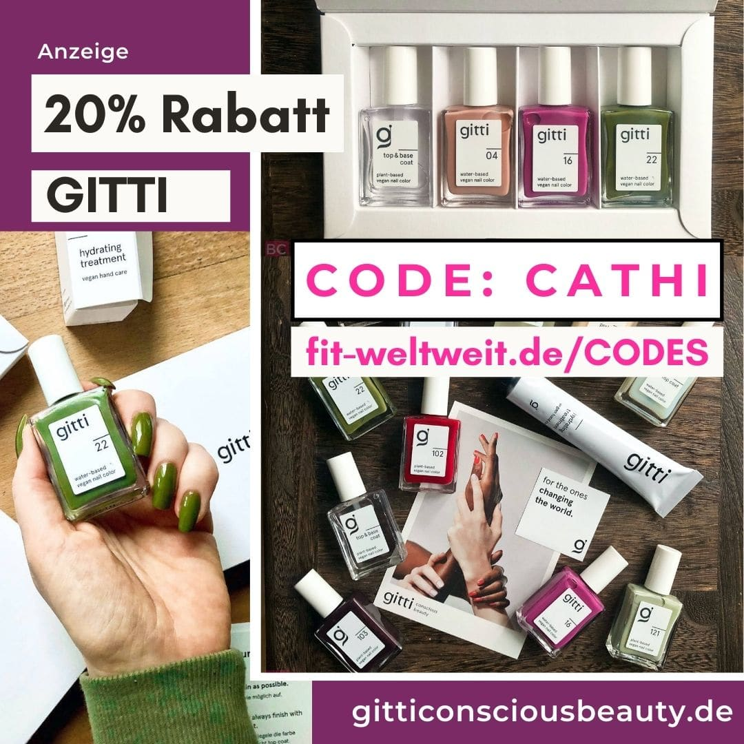GITTI CODE Rabattcode Gutscheincode 2021 20% Rabatt im Shop